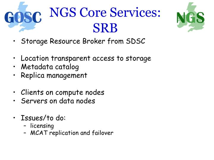 NGS Core Services: SRB