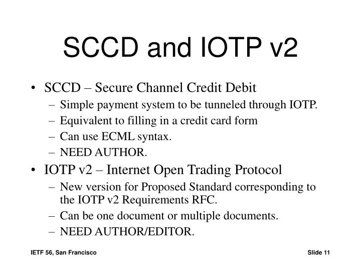 SCCD and IOTP v2