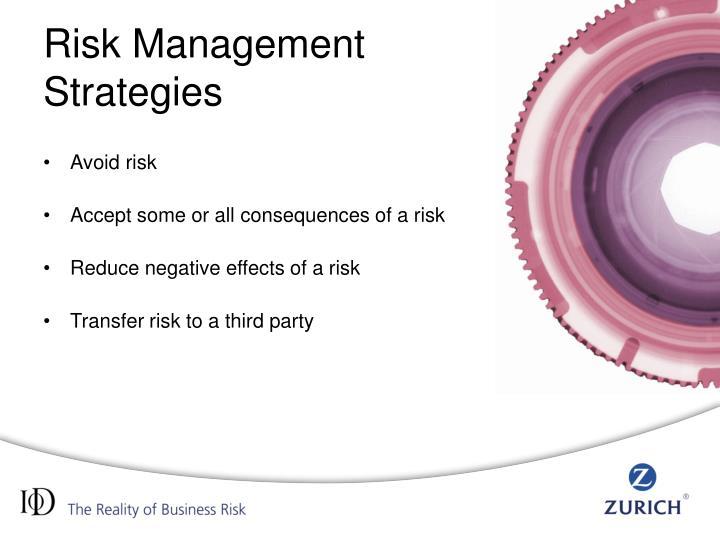 Strategies for Risk Management