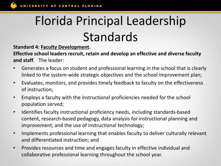 Florida Principal Leadership Standards