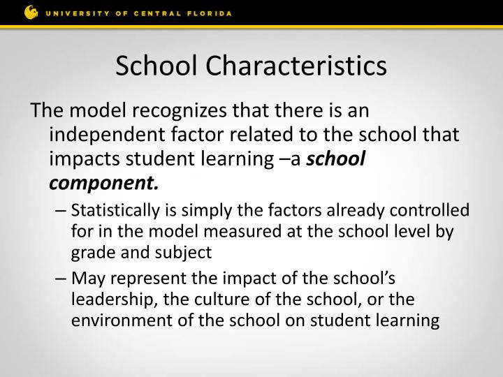 School Characteristics