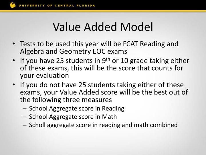 Value Added Model