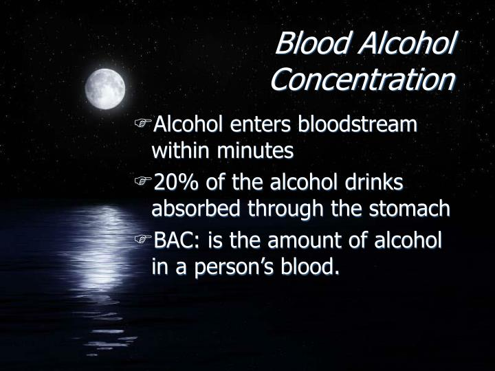 Blood Alcohol Concentration