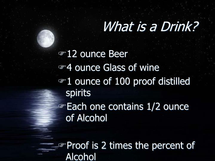 What is a Drink?