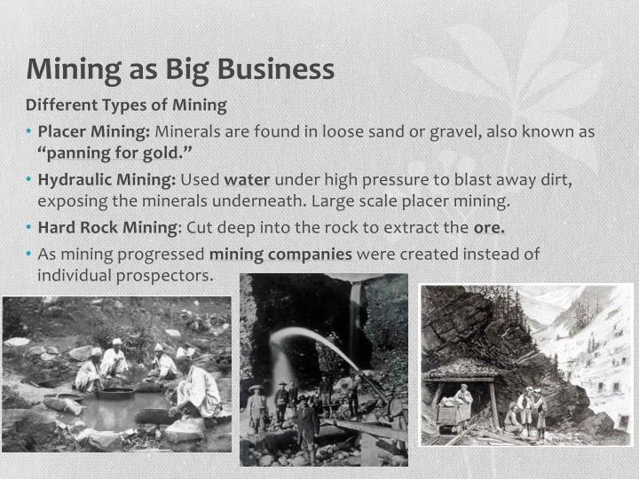 Mining as Big Business