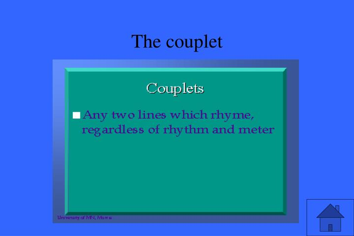 The couplet