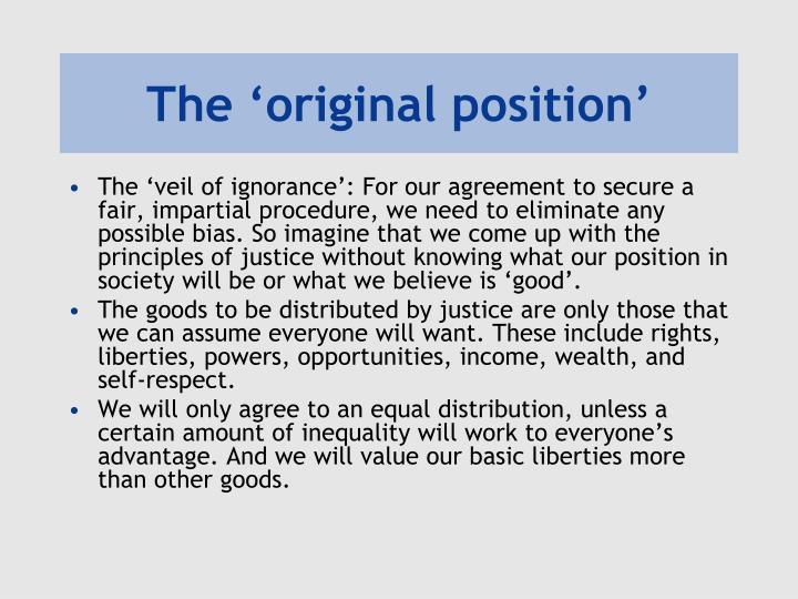 The 'original position'