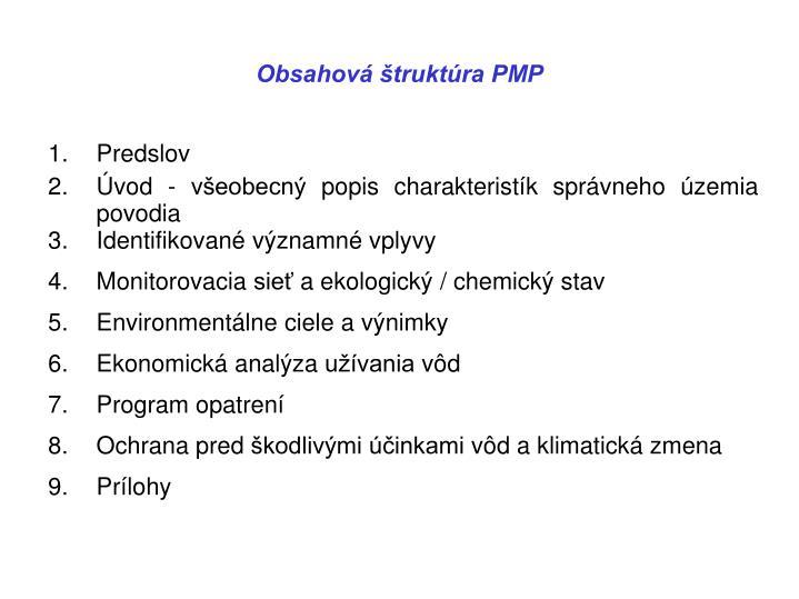Obsahová štruktúra PMP