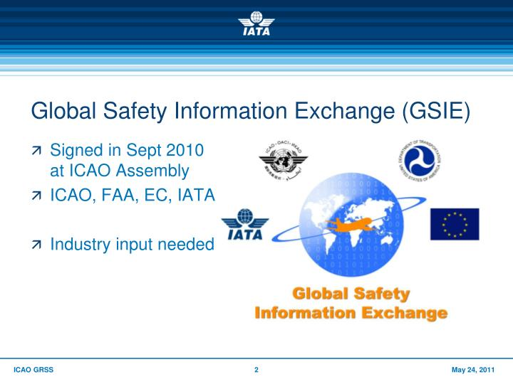 Global safety information exchange gsie