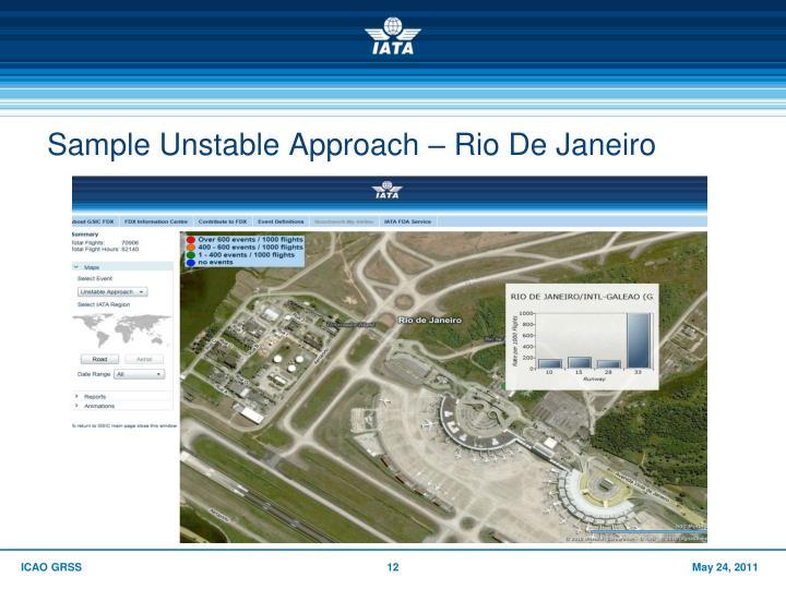 Sample Unstable Approach – Rio De Janeiro
