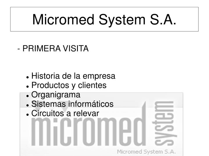 Micromed System S.A.
