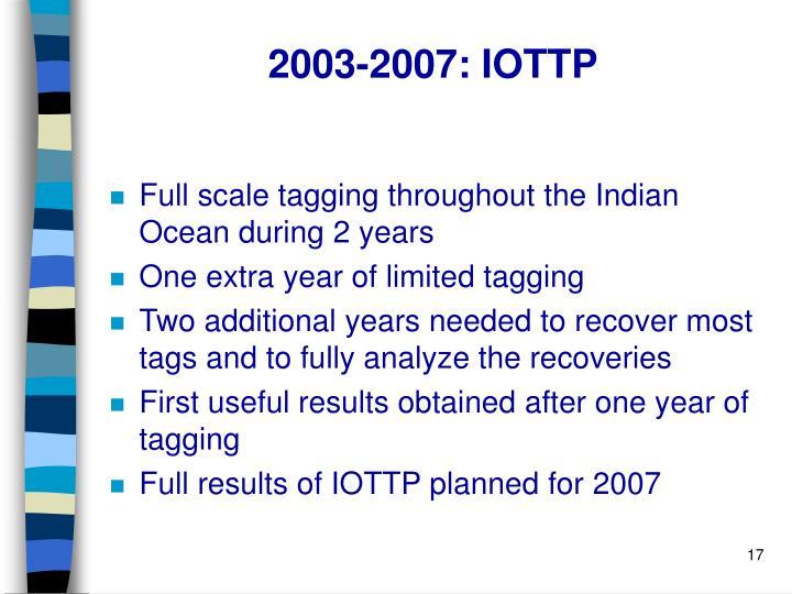 2003-2007: IOTTP