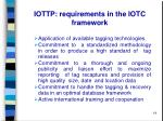 iottp requirements in the iotc framework