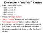 kmeans on 4 artificial clusters