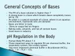 general concepts of bases