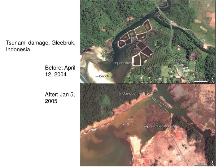 Tsunami damage, Gleebruk, Indonesia