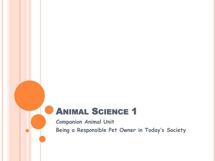 Animal Science 1