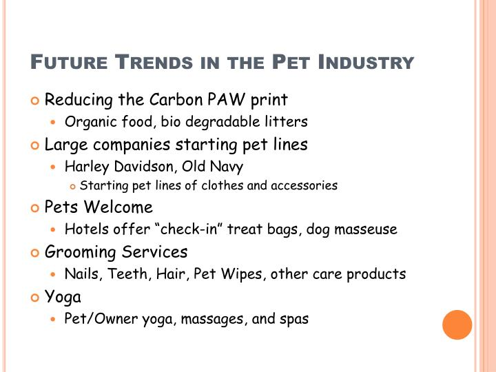 Future Trends in the Pet Industry