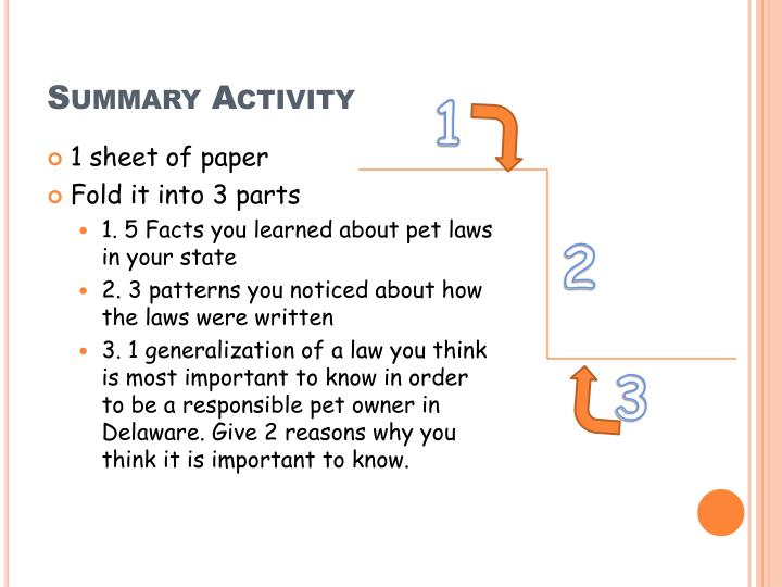 Summary Activity