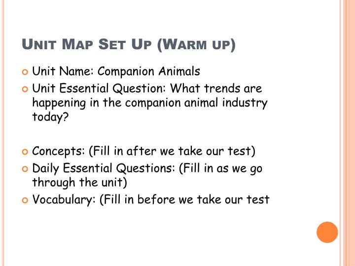Unit Map Set Up (Warm up)