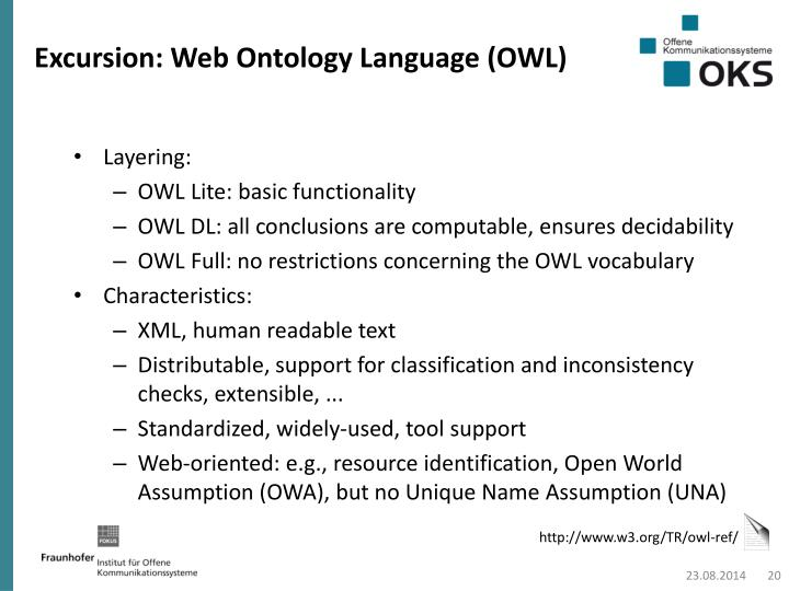 Excursion: Web Ontology Language (OWL)