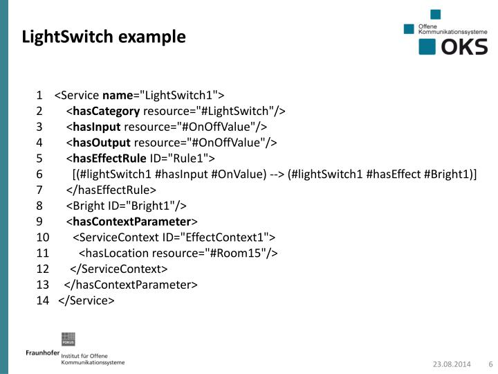 LightSwitch example