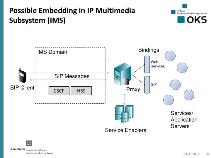 Possible Embedding in IP Multimedia Subsystem (IMS)