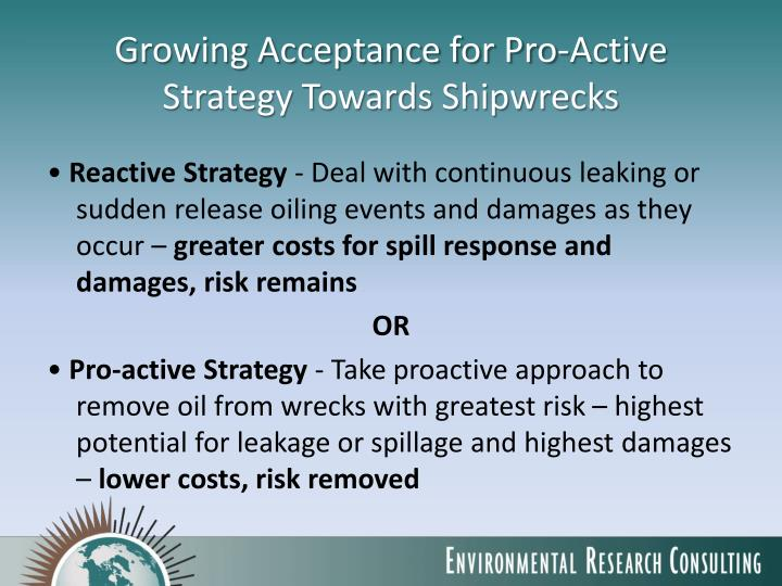 Growing Acceptance for Pro-Active Strategy Towards Shipwrecks