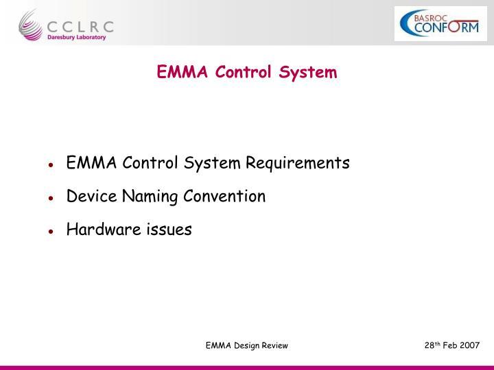 EMMA Control System