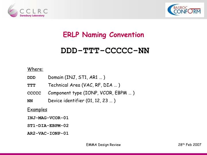 ERLP Naming Convention