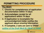permitting procedure1