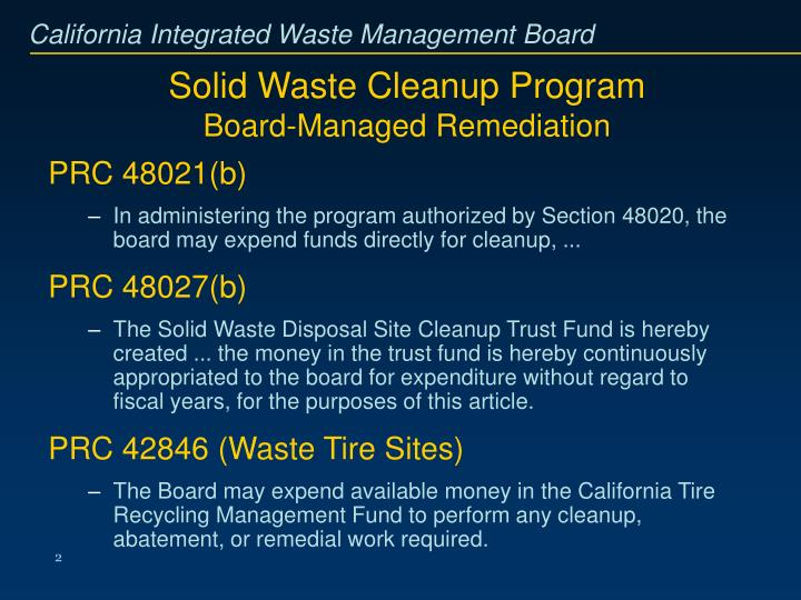 Solid Waste Cleanup Program