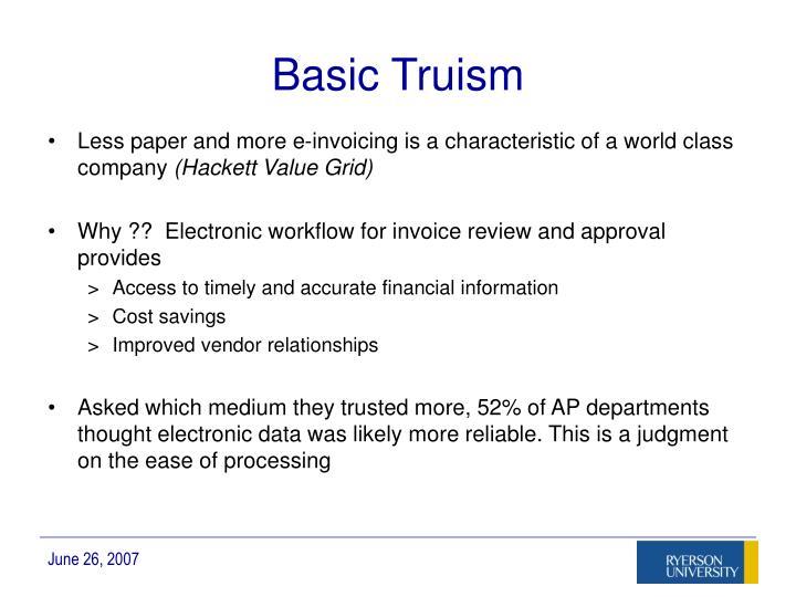 Basic Truism