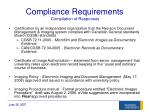 compliance requirements compilation of responses
