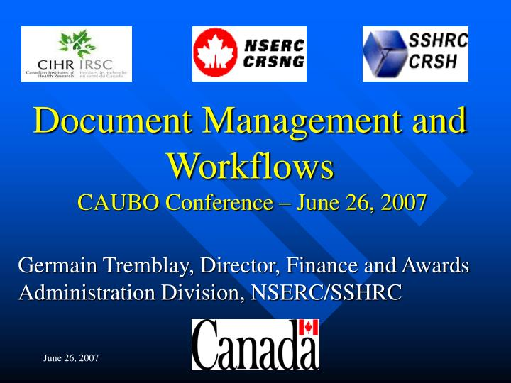 Document Management and Workflows