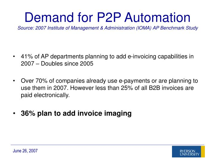 Demand for P2P Automation