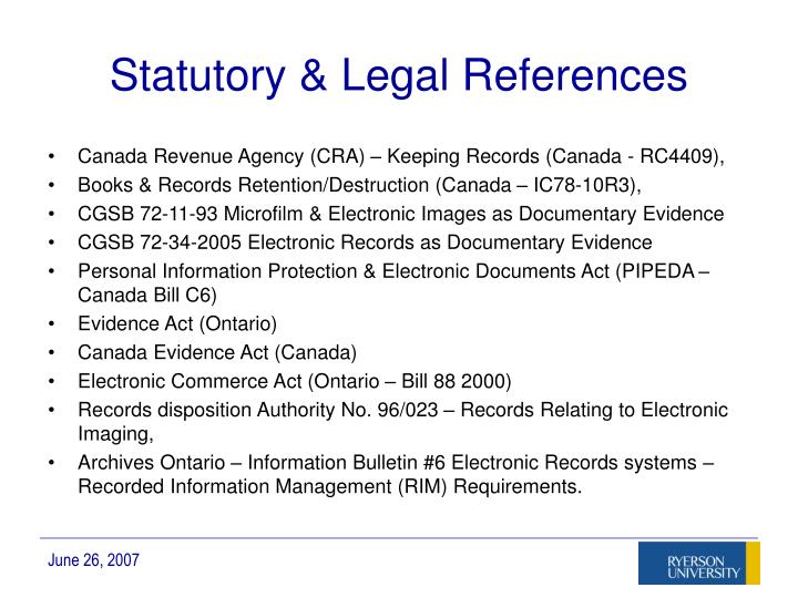 Statutory & Legal References