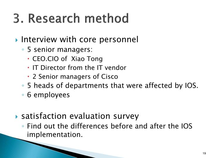 3. Research method