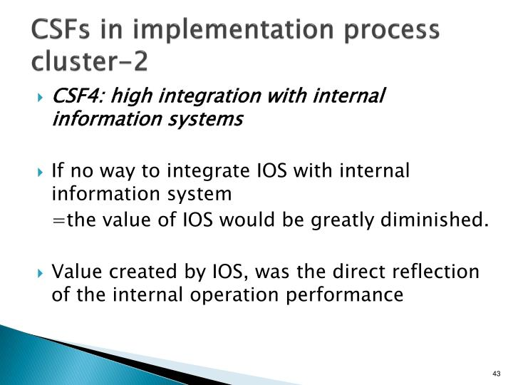 CSFs in implementation process cluster-2