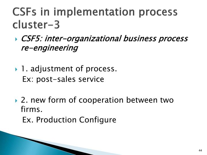 CSFs in implementation process cluster-3