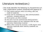 literature review con