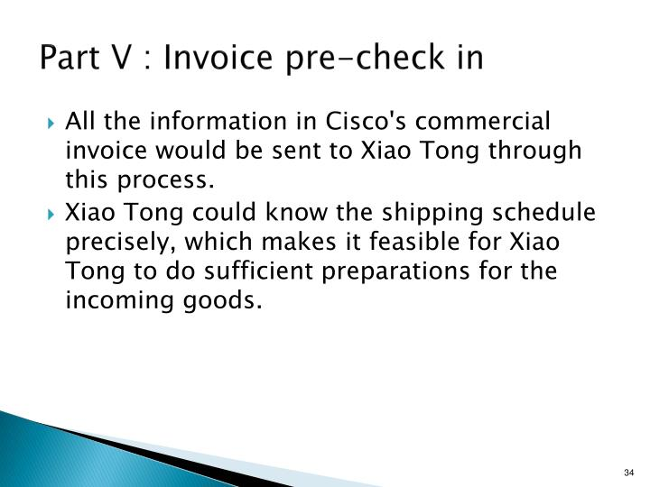 Part V : Invoice pre-check in