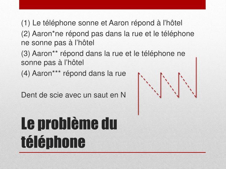 (1) Le téléphone sonne et Aaron répond à l