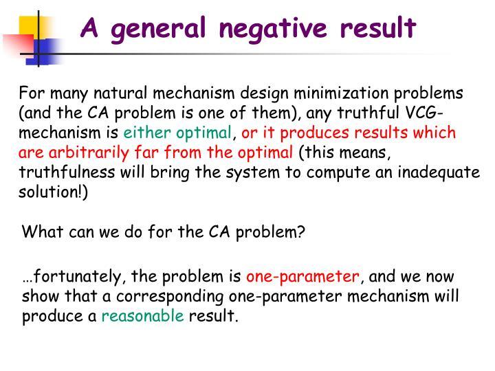 A general negative result