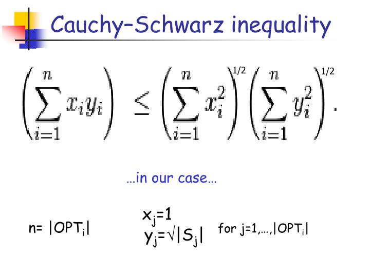 Cauchy–Schwarz inequality