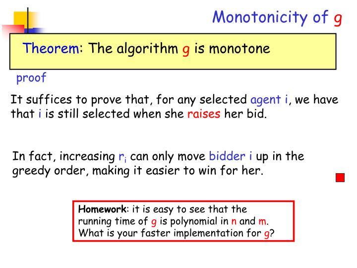 Monotonicity of