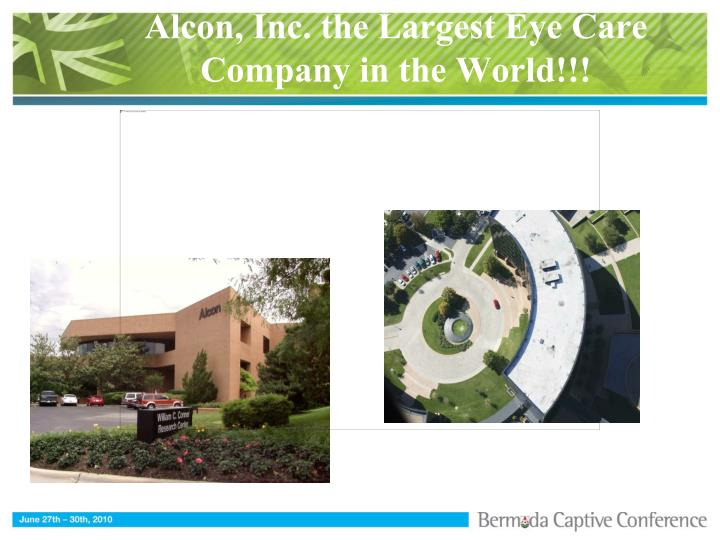 Alcon, Inc. the Largest Eye Care Company in the World!!!