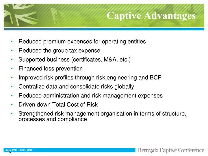 Captive Advantages