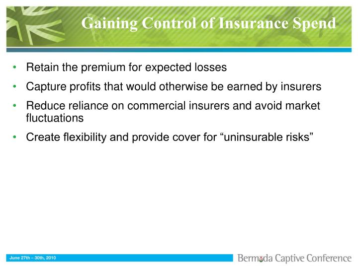 Gaining control of insurance spend