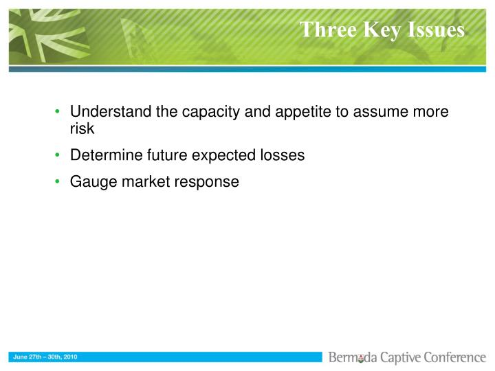 Three Key Issues
